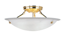 Livex Lighting 4274-02 - 3 Light Polished Brass Ceiling Mount