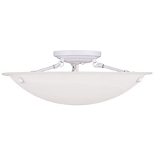 Livex Lighting 4274-03 - 3 Light White Ceiling Mount