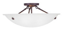Livex Lighting 4274-07 - 3 Light Bronze Ceiling Mount