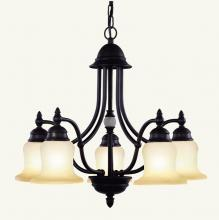 Livex Lighting 4375-07 - Five Light Bronze Down Chandelier