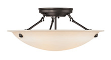 Livex Lighting 5626-07 - 3 Light Bronze Ceiling Mount