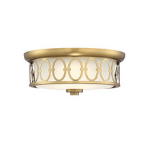 Savoy House 6-2390-14-322 - Sherrill Warm Brass LED Flush Mount