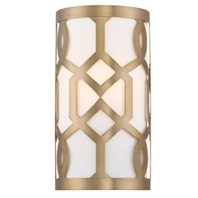 Crystorama 2262-AG - Libby Langdon for Crystorama Jennings 1 Light Aged Brass Sconce