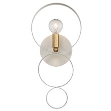 Crystorama 581-MT-GA - Crystorama Luna 1 Light Matte White & Gold Sphere Sconce