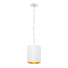 Crystorama 8680-MT-GA - Brian Patrick Flynn for Crystorama Alston 1 Light Matte White Mini Chandelier