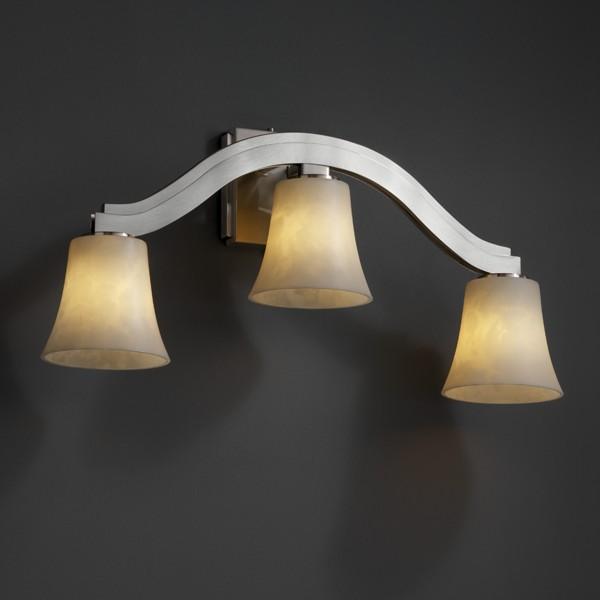 Bend Light Wall Sconce Style CLDDBRZ Abc Lighting - 3 light bathroom sconce
