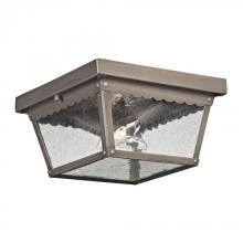 Elk Cornerstone 9002EF/80 - Springfield 2 Light Exterior Flush Mount In Anti
