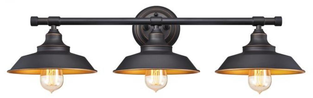 3 Light Wall Fixture Oil Rubbed Bronze Finish With