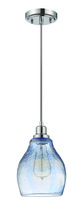 Jeremiah P615CH1 - 1 Light Mini Pendant with Cord in Chrome