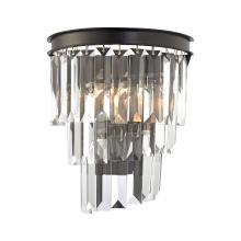 ELK Lighting 14215/1 - Palacial 1-Light Sconce in Oil Rubbed Bronze with Clear Crystal