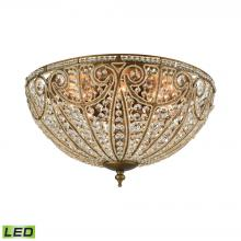 ELK Lighting 15963/8-LED - Elizabethan 8-Light Flush Mount in Dark Bronze with Clear Crystal - Includes LED Bulbs