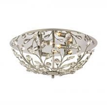 ELK Lighting 45261/4 - Crystique 4-Light Flush Mount in Polished Chrome with Branch Metalwork and Clear Crystal
